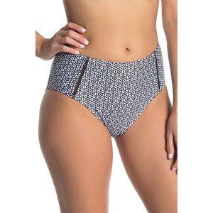 NWT Nicole Miller High Waist Print Bikini Bottoms